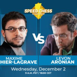 Today: Aronian vs. Vachier-Lagrave Speed Chess Match