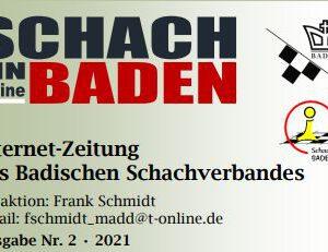 Internetzeitung des Badischen Schachverbandes – Ausgabe Februar 2021