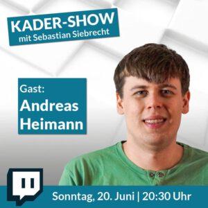 Kader-Show mit GM Sebastian Siebrecht: Gast GM Andreas Heimann